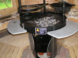 kota grillkota sauna summerhouse garden bbq hut new ebay. Black Bedroom Furniture Sets. Home Design Ideas